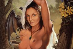 "Sorceress II   24x30"" Oil on panel 1999"